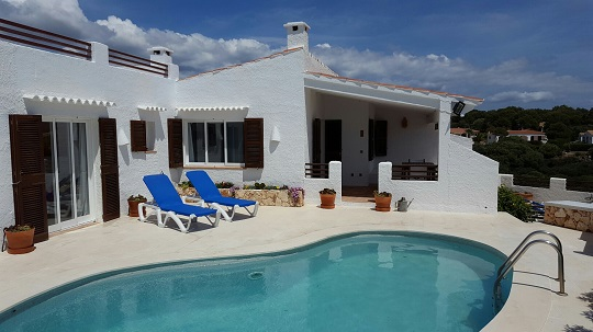 villa with pool menorca
